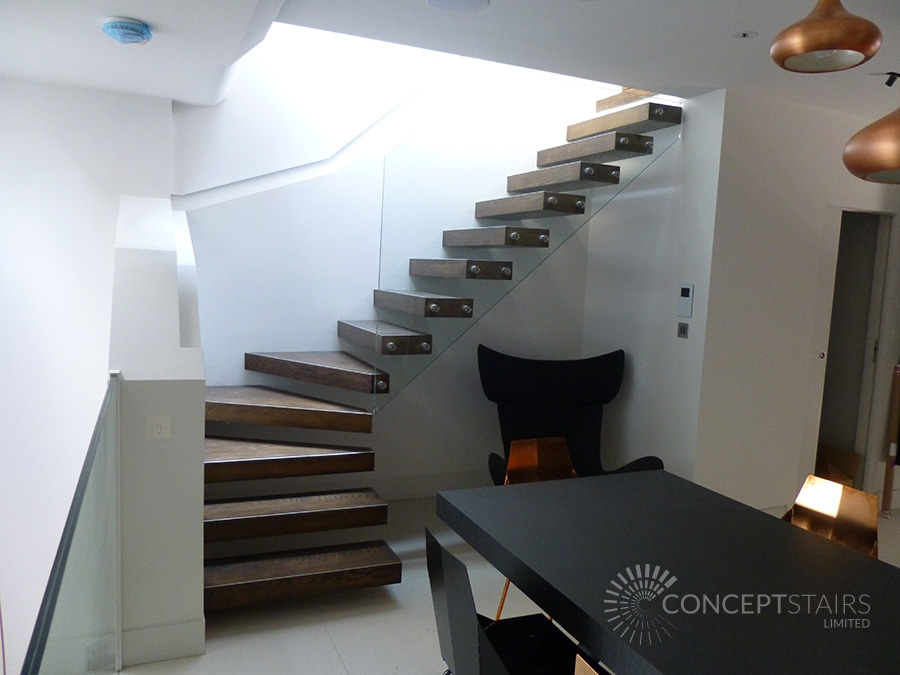 Recent bespoke staircase projects for Free floating stairs