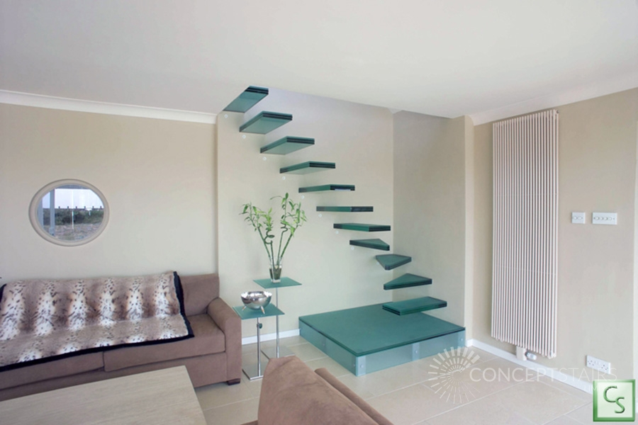 Floating Glass Cantilever Feature Staircases Glass